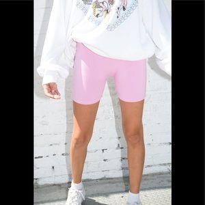 Brandy Melville bubblegum pink griffin shorts